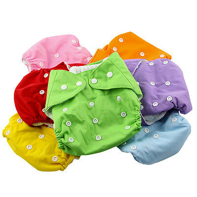 1 pcs Baby Cloth Diaper Adjustable Reusable Nappy Covers Washable