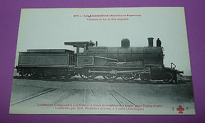 Postcard Cpa Locomotive Train Argentina Sud Mm.henschel Sohn Cassel Allemagne