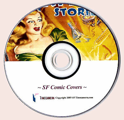 Print/Frame/Sell - VINTAGE SCIENCE FICTION COMIC COVERS - Pro Images DVD-Rom