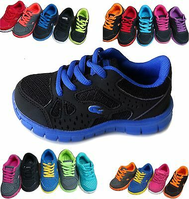 NEW Kids Boys Girls Unisex Neon Lace Up Sneaker Tennis Shoe Youth Size 10 to 4