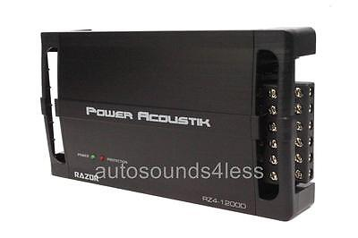 Power Acoustik RZ4-1200D 1200 Watt 4-Channel Class D Small Compact Amplifier New