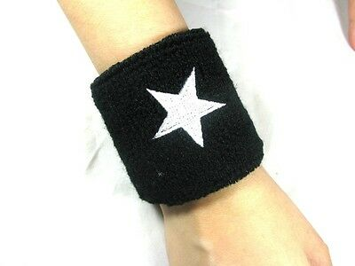 Whte Star Elastic Wrist Band Support Protective Sweat Cool Sporting Goods #s02