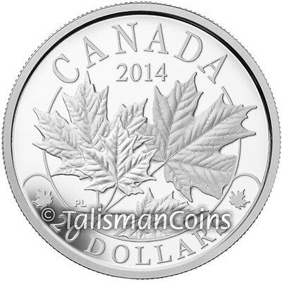 Canada 2014 Majestic Maple Leaves SML $20 Pure Silver Maple Leaf Proof Full OGP