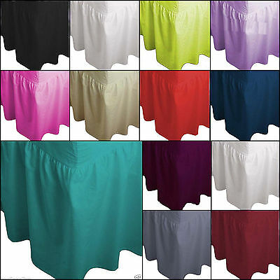 King Size Plain Fitted Valance Bed Sheet
