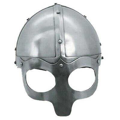 Viking Mask Deluxe Helmet, Medieval Reproduction Helmets With Liner & Chin Strap