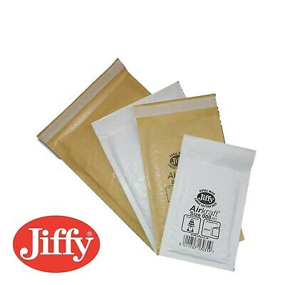 Genuine Jiffy White & Gold Padded Bags/Envelopes/Mailers