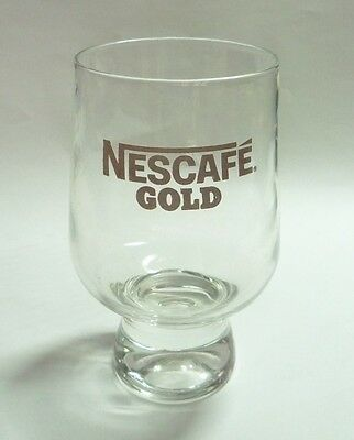 NESCAFE GOLD Promotion CLEAR Coffee GLASS MALAYSIA 2012 Black Nestle 4.5""