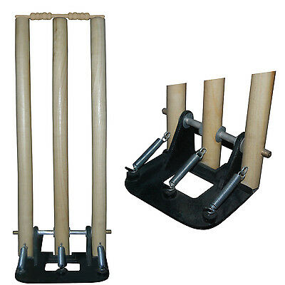Heavy Duty Cricket Spring Back Stumps / Wickets With Bails