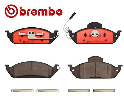 For Mercedes W163 ML350 ML430 Front Brake Pad Set Ceramic Slotted Lube Brembo