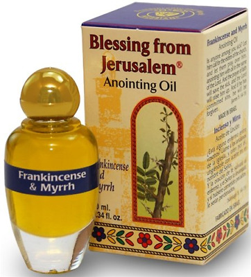 Anointing Oil Frank incense and Myra 10 ml. ,Israel Ein Gedi Holy Land gift