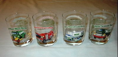 HESS Toy Truck Collectors Series (1996) Set of 4 Glasses