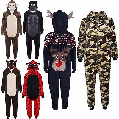 Kids Girls Boys Soft & Fluffy Animal A2Z Onesie One Piece Xmas Costume 2-13 Year