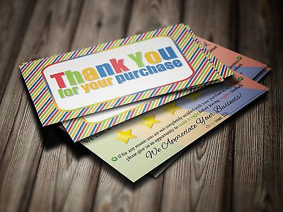 500 ebay Seller THANK YOU Business Cards 5 FIVE STAR Feedback COLORFUL Fun NEW