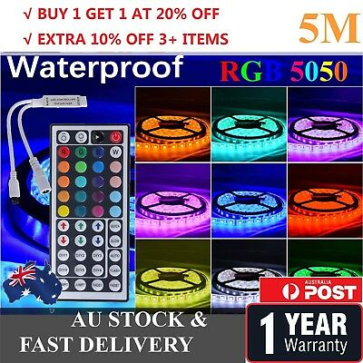 20M 15M 10M 5M LED 5050 3528 RGB Strip Light Kit Flexible Dimmable Waterproof
