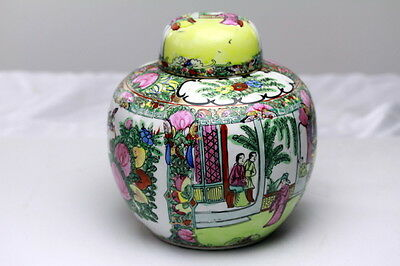 Chinese Porcelain  Famille Rose Ginger Jar or Tea Caddy ACF