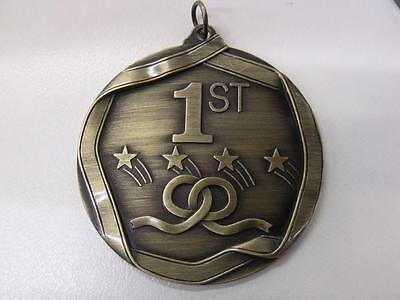 1 X 70mm PLACE MEDAL,TROPHY,AWARD,FREE RIBBON,FREE ENGRAVING.