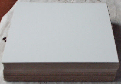 "50 Lot ; 6"" x 6"" Med. Wt. Chipboard's; new/unused; gd+ cond ; white front side"