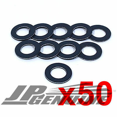 Lot Of 50Pc Oil Drain Plug Crush Washer Gaskets 90430-12031 - Toyota