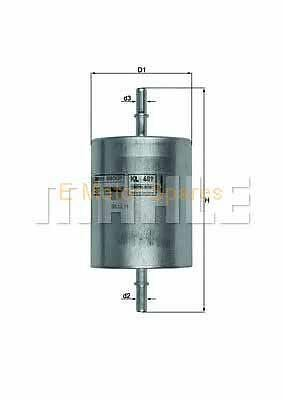 MAHLE ORIGINAL Fuel filter Ford Mondeo Petrol KL409