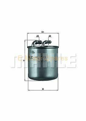 "MAHLE ORIGINAL Fuel filter Mercedes ""A,B,C, E"" Class KL313"