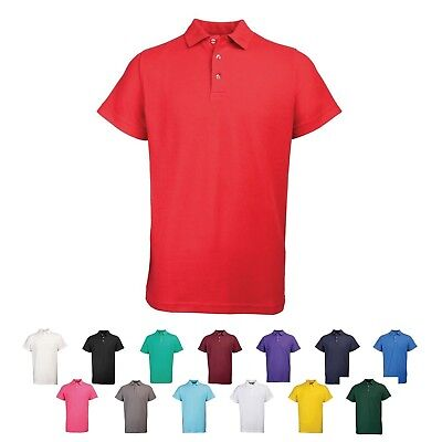 Mens Poly Cotton Pique RTY Polo Shirt Casual Work Leisure Sizes S - 10XL RT001