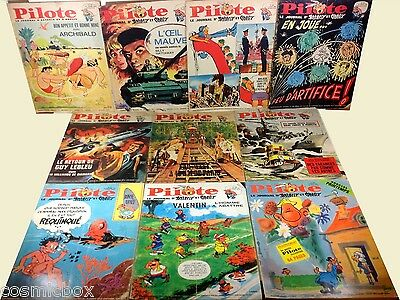 Lot 10 PILOTE de 1966 le Journal d'ASTERIX revues n° 327 348 350 351 352 356 ...