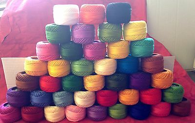 50 ANCHOR Pearl Cotton Crochet Balls Size 8 (85 Meters each) thread UK Seller