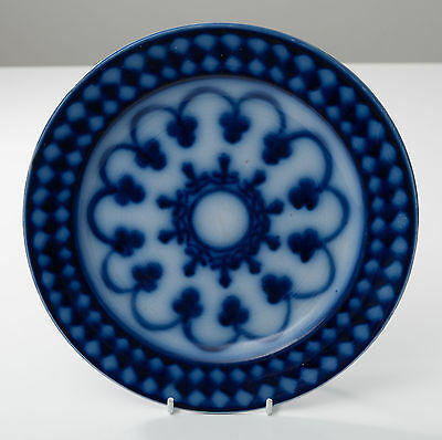 A George Jones Flow Blue Plate - Victorian Period Antique c1880
