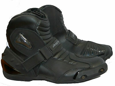 RK-3 SHORT LEATHER CRUISER Ankle MOTORBIKE MOTORCYCLE BOOTS MENS KIDS LADIES