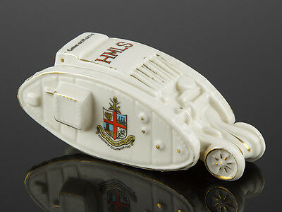 Carlton China Crested Ware WWI HMLS Tank Gillingham