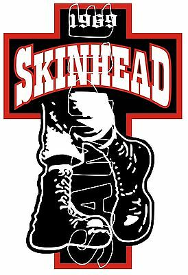 Mods Scooter Old Skool Skinhead Boots Sticker Decal