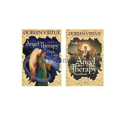 Angel Therapy Learn to Read Set Handbook Plus Card Deck Oracle Virtue Tarot