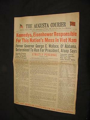 1967 AUGUSTA COURIER KENNEDY EISENHOWER VIET NAM GEORGE WALLACE ADAM C POWELL
