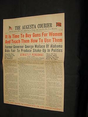 1967 AUGUSTA COURIER NEGRO BLACK WOMEN BUY GUNS INTEGRATION RACE RIOTS G WALLACE