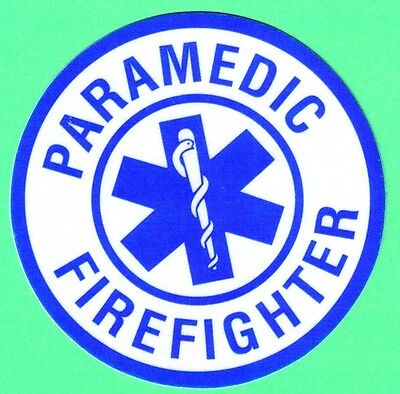 EMT Decal/Sticker Round (PARAMEDIC FIREFIGHTER) Round 3 Inch