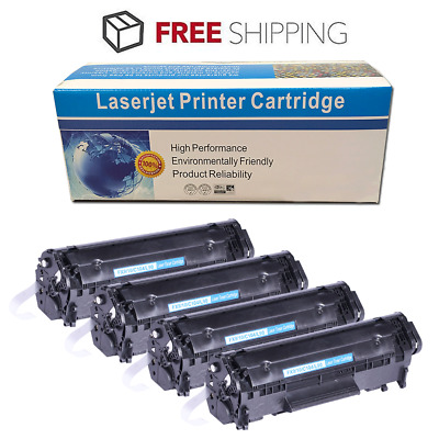 4 PK Canon 104, FX-9, FX-10 black Toner Cartridges for FaxPhone L90, L120 d420