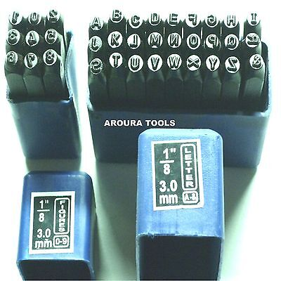 """LETTERS & NUMBERS METAL STAMPS ( 3mm - 1/8"""" ) SIZE- BRAND NEW."""