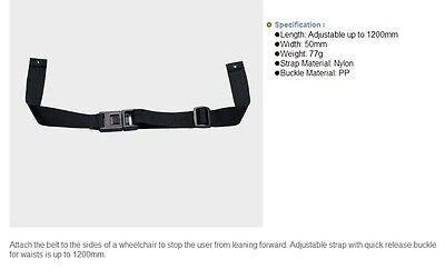 Adujustable Wheelchair Seat Belt Lap Strap Accesories Disability Aids New