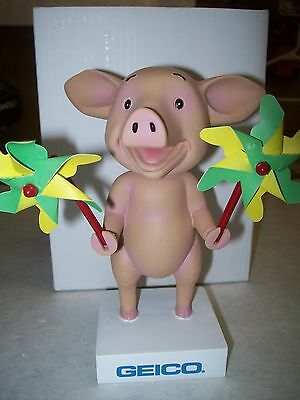 "GEICO""S MAXWELL THE PIG BOBBLEHEAD  5 1/2 INCHES"