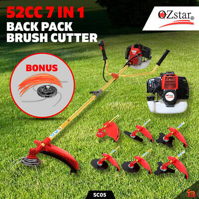 NEW 52CC, 7 IN 1 BRUSHCUTTER  HEDGE TRIMMER WHIPPER SNIPPER   BRUSH CUTTER