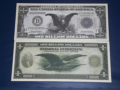 ONE BILLION DOLLAR UNCIRCULATED U.S  FEDERAL RESERVE NOVALTY BANKNOTE!
