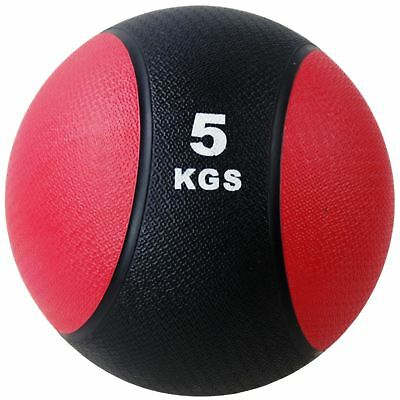 BodyRip RUBBER MEDICINE BALL 5KG WEIGHTS EXERCISE FITNESS MMA BOXING GYM FIT