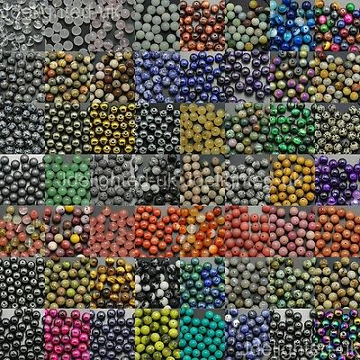 Wholesale Natural Mixed Gemstone Round Spacer Beads 4mm 6mm 8mm 10mm 12mm Pick