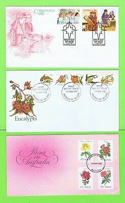 Australia 1980's Collection of three First Day Covers