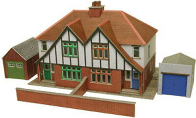 Metcalfe Semi-Detached Houses OO Gauge Card Kit PO266