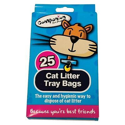 Cat Litter Tray Liner Bags ~ 25 X Disposable Hygienic Bags With Ties ~ Free P&p!