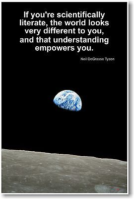 Neil deGrasse Tyson Quote - NEW Science Physicist Classroom Motivational POSTER