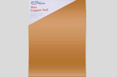Peak Dale Thin 100% Copper 0.1mm Foil. 300mm x 215mm. 2 Sheets.  COPTHIN