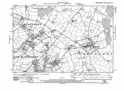Rowde west old map Wiltshire 1926: 33SE repro Seend Sells Green