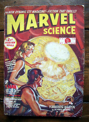 Pulp Dime Magazine Marvel Science Stories Number 1 1950 Science Fiction #1 Aklat